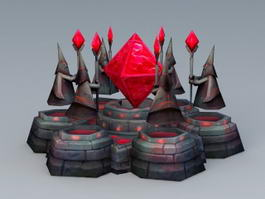 Magic Crystal Tower 3d model