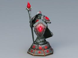 Raven Guard Statue 3d model