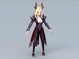 Beautiful Demon Woman 3d model
