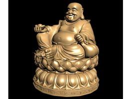 Monk Budai Buddha Statue 3d model