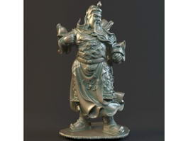 Guan Yu Statue 3d model