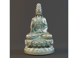 Seated Guan Yin Bodhisattva 3d model