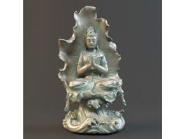 China Bodhisattva Avalokiteshvara 3d model