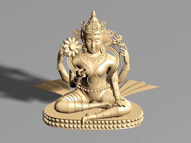Buddhist Statue 3d rendering