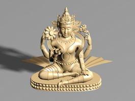Buddhist Statue 3d model