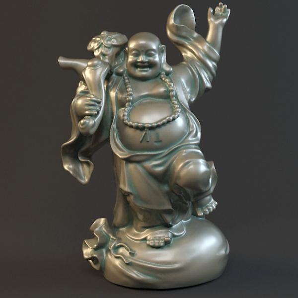 Fat Happy Buddha 3d Model 3ds Max Object Files Free