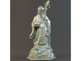 Chinese Longevity God 3d model