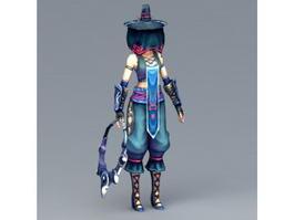 Female Masked Killer 3d model