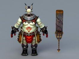 Zombie Warrior 3d model