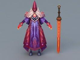 Demon with Sword 3d model