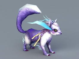 Purple Squirrel 3d model