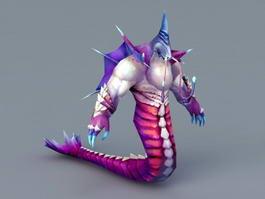 Naga Creature 3d model