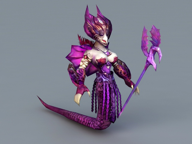 Female Naga Sorceress 3d Model 3ds Max Files Free Download