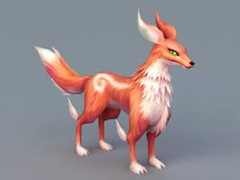 Red Fox Anime 3d model