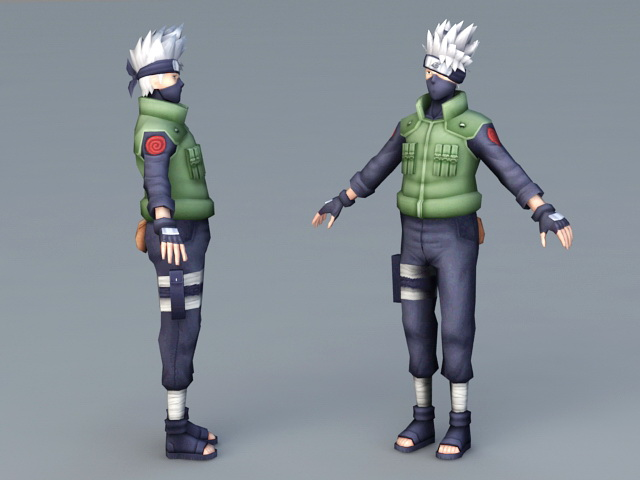 Kakashi Hatake Character 3d Model Object Files Free