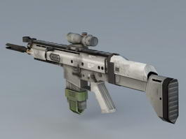 MK17 Sniper Rifle 3d model