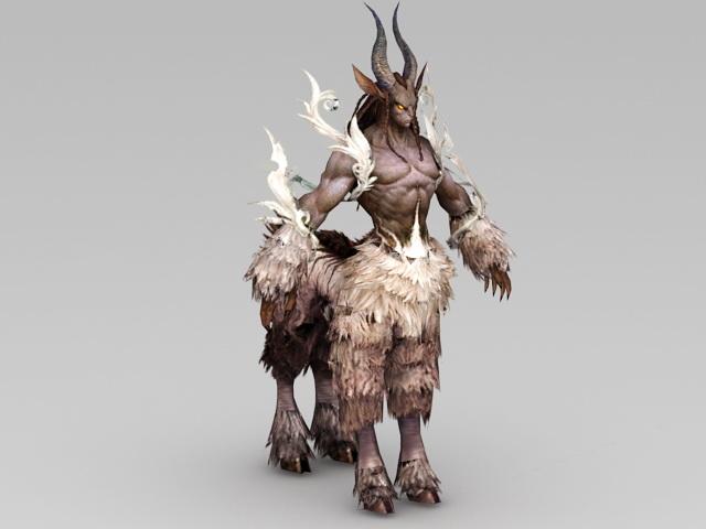 Male Centaur With Horns 3d Model 3ds Max Files Free Download Modeling 41171 On Cadnav