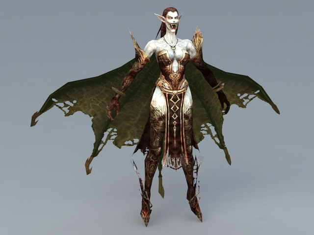 Dark Elf Vampire 3d Model 3ds Max Files Free Download