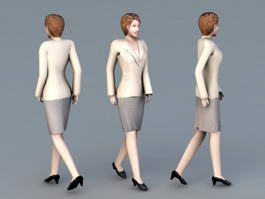 Professional Business Woman 3d model