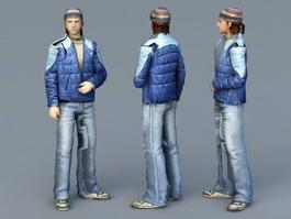 Russian Guy 3d model