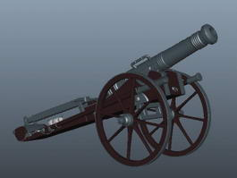 French Artillery Cannon 3d model