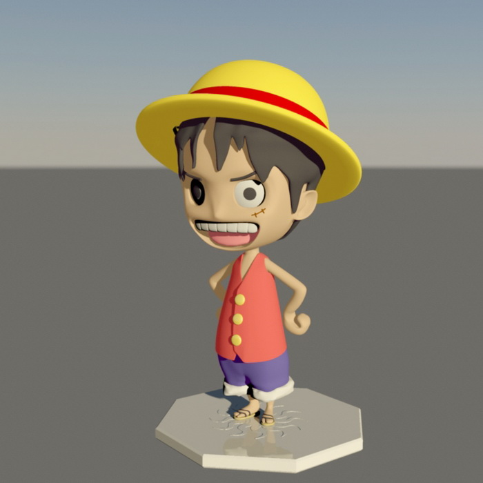 Monkey D Luffy Pictures Free Download: Monkey D. Luffy Character 3d Model Maya Files Free