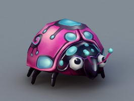 Cartoon Ladybug 3d model