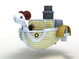 One Piece Going Merry 3d model