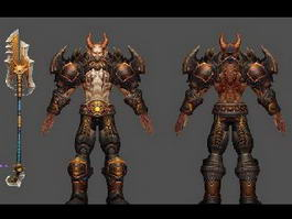 Hell Warrior 3d model