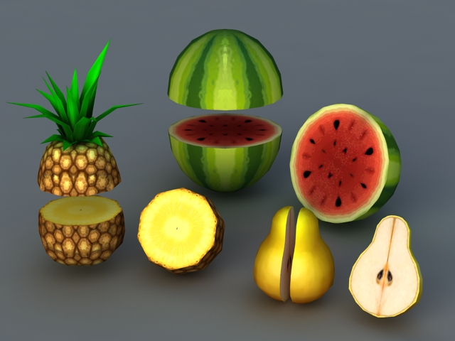 Low Poly Fruit 3d model 3ds Max files free download - modeling 41243 ... eec937daf