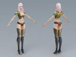 Beautiful Elf Woman 3d model