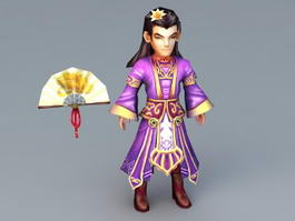 Anime Chinese Man 3d model