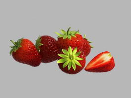 Fresh Strawberry 3d model