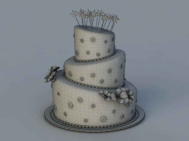 Sweet 16 Birthday Cake 3d Model Autodesk Fbx Files Free Download