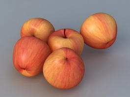 Red Apples 3d model