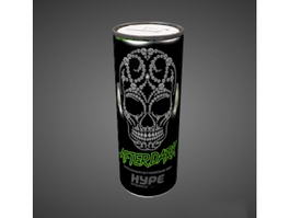 Hype Energy Drink 3d model