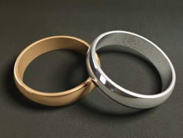 Couple Rings 3d model