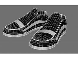 Black and White Vans Shoes 3d model