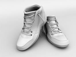 High Top Sneakers 3d model