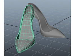 Stiletto High Heel Shoes 3d model