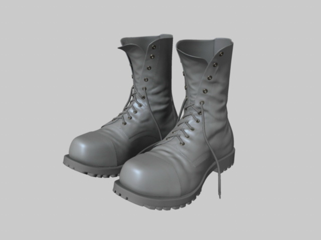 Men Shoes 3d model free download - cadnav com