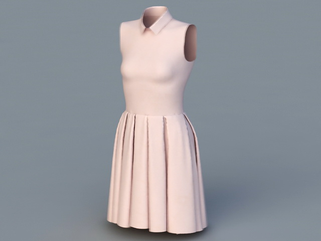 Sleeveless Dress 3d model