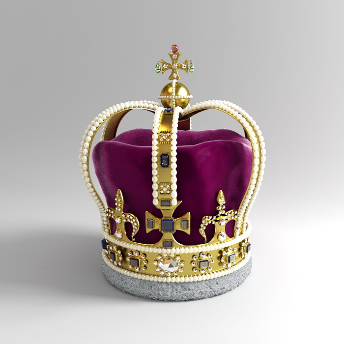 saint edwards crown 3d model 3ds max files free download