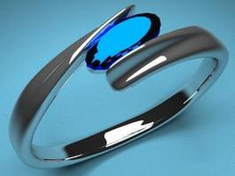 Blue Sapphire Ring 3d model