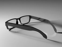 Fashion Reading Glasses 3d model