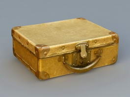 Antique Suitcase 3d model