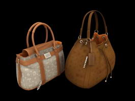 Fashion Handbags 3d model