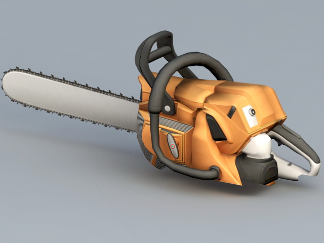 Electric Chain Saw 3d Model 3ds Max Maya Files Free