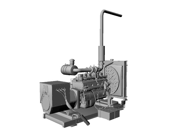 Diesel Generator 3d Model Maya Files Free Download