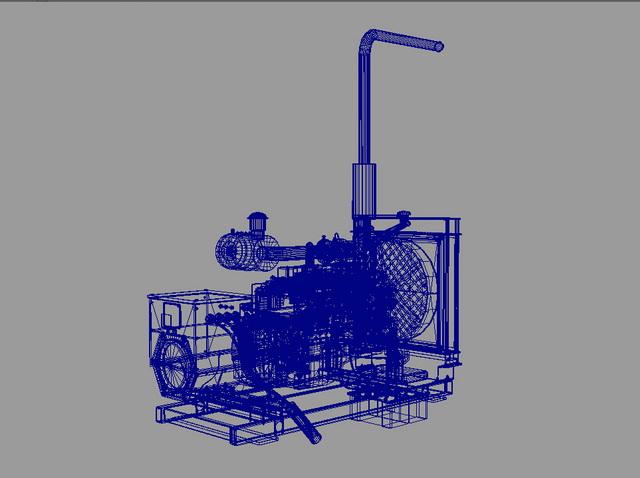 Diesel Generator 3d Model Maya Files Free Download